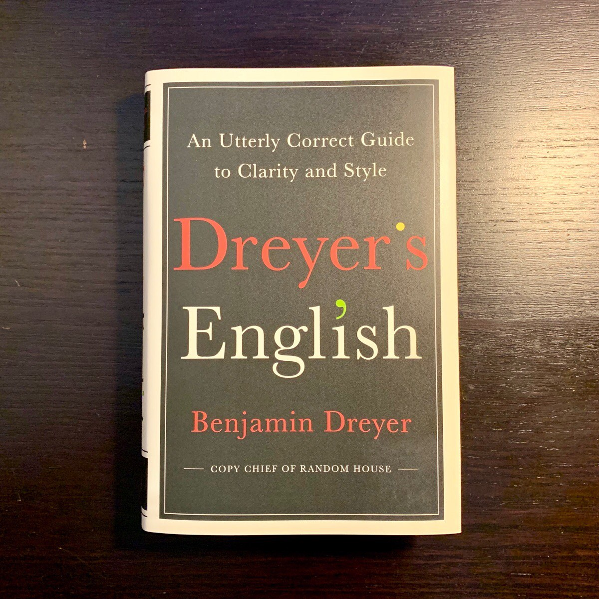 "A photo of the book ""Dreyer's English"""