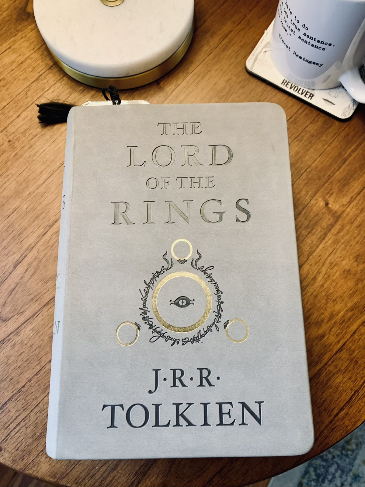 "A picture of ""The Lord of the Rings"" by J.R.R. Tolkien"